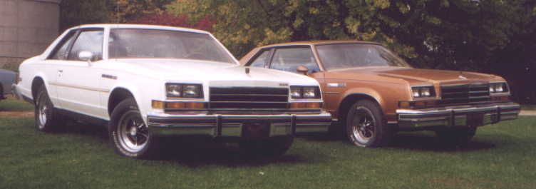 1979 Buick Regal Turbo. A 1979 LeSabre Sport Coupe and
