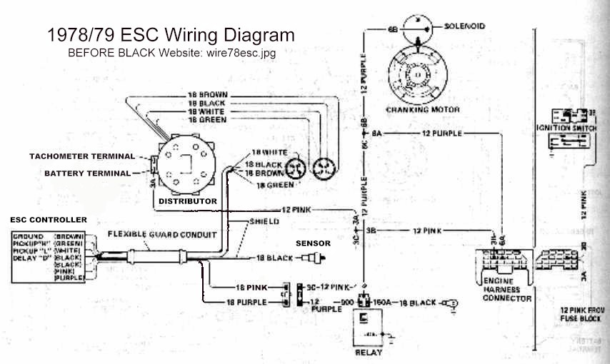 before black knock knock style knock sensor and a little rewiring are all that is required here is the 78 79 wiring diagram for the esc 1980 is similar but the exact wiring